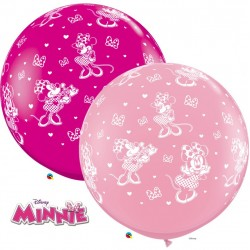 1 m-es Minnie Egeres Kerek Latex Lufi