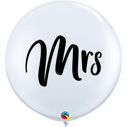 Mrs feliratos esküvői méteres lufi
