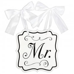 Mr feliratú esküvői tábla