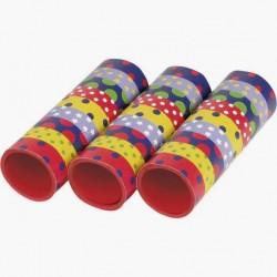 Szerpentin fiús színekben csillagos pöttyös - 27 db-os