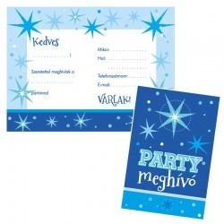 Parti meghívó borítékkal kék