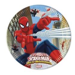 Pókember - Spider-man parti tányér - 23 cm, 8 db-os