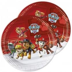 Mancs Őrjárat parti tányér - 23 cm, 8 db-os