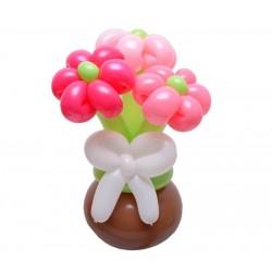 Egy csokor szeretet pink lufivirággal