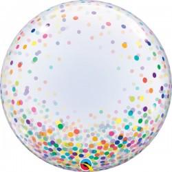 Színes konfettis dekor lufi
