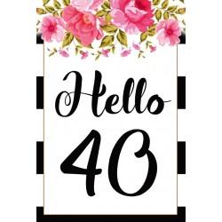 Születésnapi üveg címke 40. születésnapra antikolt pecséttel 2 db-os
