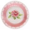 Rózsa mintás vintage esküvői tányér 10 db-os