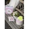 Pénzajándék doboz esküvőre Vintage Rózsa mintával 20 x 12 cm
