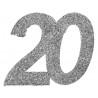Ezüst glitteres konfetti 18-as szám alakú 6 db-os