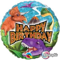 Dinoszauruszos születésnapi fólia lufi