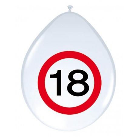 Születésnapi lufi 18-as számos sebességkorlátozós 8 db-os