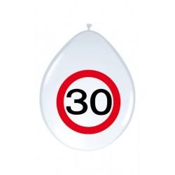 Születésnapi lufi 30-as számos sebességkorlátozós 8 db-os