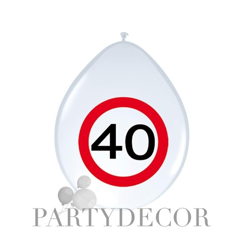 Születésnapi lufi 40-es számos sebességkorlátozós 8 db-os