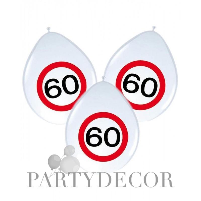 Születésnapi lufi 60-as számos sebességkorlátozós 8 db-os