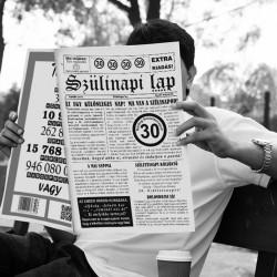 30-as számos születésnapi újság