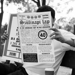 40-es számos születésnapi újság