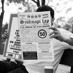 50-es számos születésnapi újság