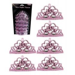 Lánybúcsúra mini tiara szett rózsaszínű, 6 db-os