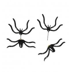 Fekete pók fülbevaló halloweenre