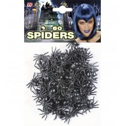 Mini dekorációs pókok halloweenre 60 db-os