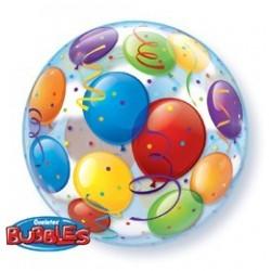 22 inch-es Léggömb Mintás - Balloons Bubble Héliumos Lufi
