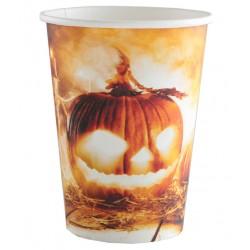 Világító töklámpás halloween parti pohár
