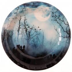 Kísértetjárás halloween parti tányér