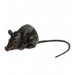 Műanyag patkány dekoráció halloweenre