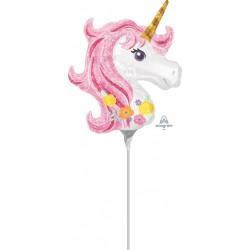 Glitteres pink Unikornis lufi