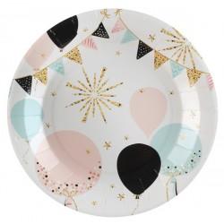 Flitteres lufik, füzérek parti tányér