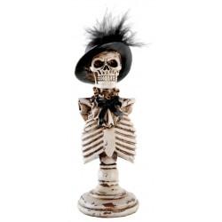 Halloweeni csontváz asztaldekoráció 17 cm