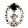 Csontvázas képkeret Halloween dekoráció 19 cm