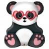 Panda maci szerelmes fólia lufi 81 cm-es