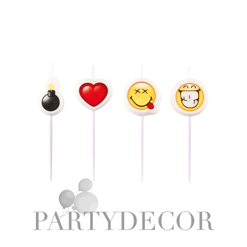 Emoji tortagyertya szett 4 db-os