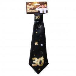 Születésnapi nyakkendő arany-fekete 30. születésnapra