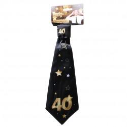 Születésnapi nyakkendő arany-fekete 40. születésnapra