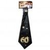 Születésnapi nyakkendő arany-fekete 60. születésnapra