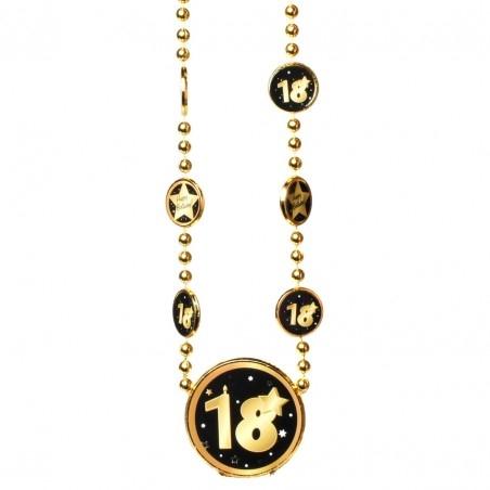 Nyaklánc 18. Születésnapra arany-fekete