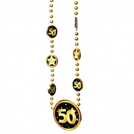 Nyaklánc 50. Születésnapra arany-fekete