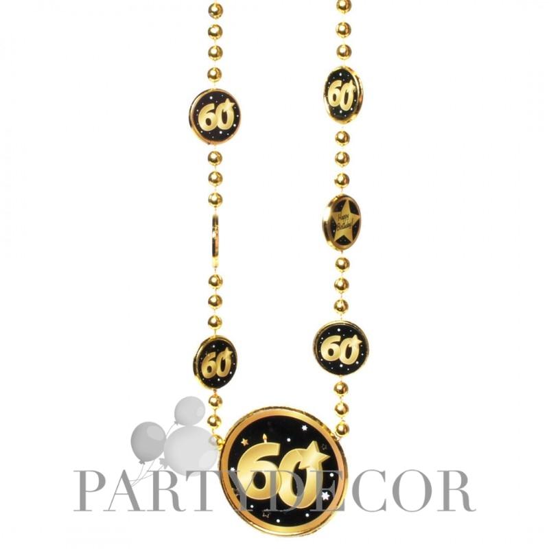 Nyaklánc 60. Születésnapra arany-fekete