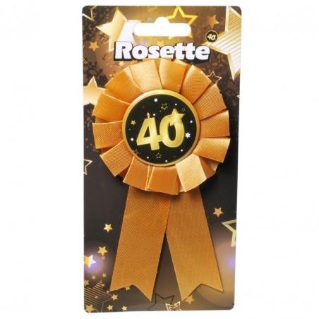 40. Születésnapi kitűző, fekete-arany