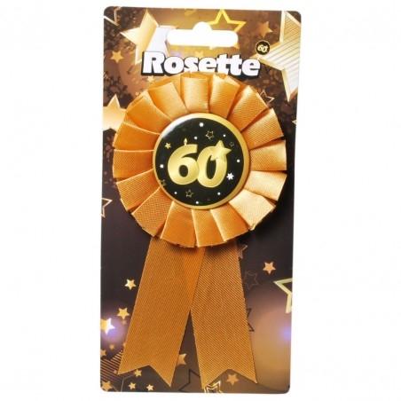 60. Születésnapi kitűző, fekete-arany