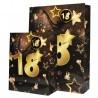 18-as Számos Arany-Fekete Ajándéktasak Szülinapra- Nagy