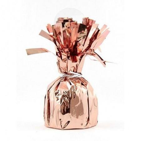 Rózsaarany- Rose Gold bojtos léggömbsúly