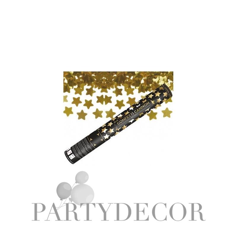 Arany Csillagokat Kilövő Konfetti Ágyú, 40 cm-es