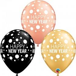 Szilveszteri Lufi Happy New Year felirattal