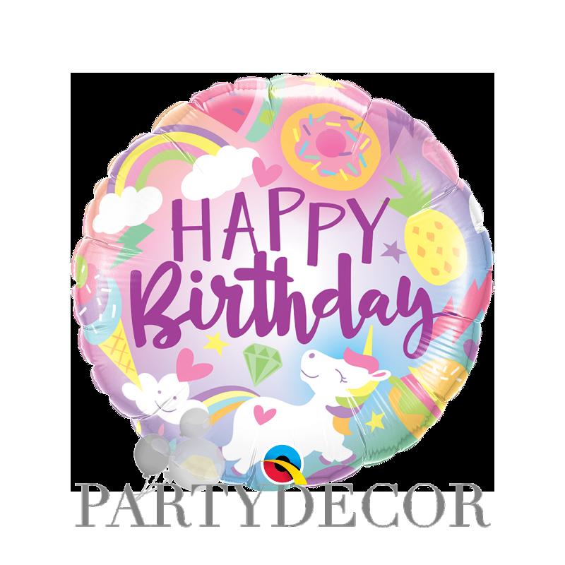 Unikornis fantasztikus világa héliumos születésnapi fólia lufi