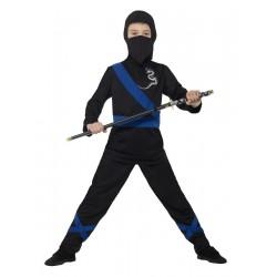 Fekete Ninja jelmez 4-6...