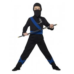 Fekete Ninja jelmez 7-9...
