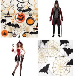 Halloween dekoráció horror kellékekkel